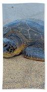 Sunbathing Honu Beach Towel