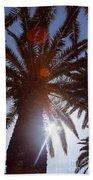 Sunbeams Through The Palms Beach Towel