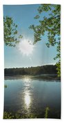 Sunburst Over The Reservoir Beach Towel