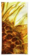 Sunburst Sunflower Beach Towel