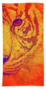 Sunburst Tiger Beach Towel
