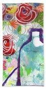 Sunday Market Flowers 2- Art By Linda Woods Beach Towel
