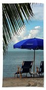 Sunday Morning At The Beach In Key West Beach Towel