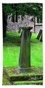 Sundial In St Leonard's Churchyard - Thorpe Beach Towel