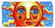 Sunface With Ladybug Beach Towel