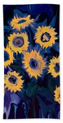 Sunflower 1 Beach Towel