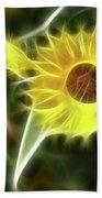 Sunflower-5030-fractal Beach Towel