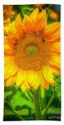 Sunflower 8 Beach Towel