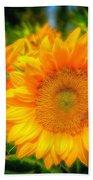 Sunflower 9 Beach Towel