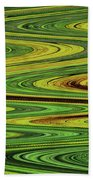 Sunflower Abstract Beach Towel