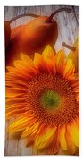 Sunflower And Pears Beach Sheet