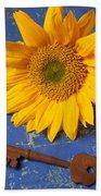 Sunflower And Skeleton Key Beach Towel