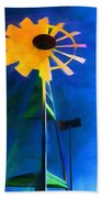 Sunflower And The Wind Spirit Beach Towel