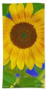 Sunflower Art Beach Towel