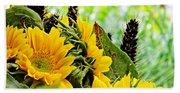 Sunflower Bouquet 2 Beach Sheet