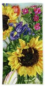 Sunflower Bouquet Beach Towel