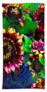 Sunflower Carnival Beach Towel