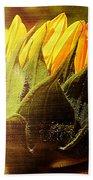 Sunflower Crown Beach Towel