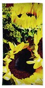 Sunflower Decor 3 Beach Towel