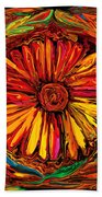 Sunflower Emblem Beach Towel
