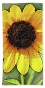 Sunflower Expressed Beach Towel