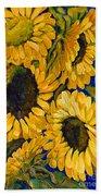 Sunflower Faces Beach Towel