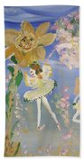 Sunflower Fairies Beach Towel