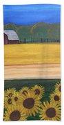Sunflower Fields Beach Sheet