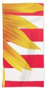 Sunflower Flag Beach Towel