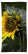 Sunflower Fractalius Beauty Beach Towel