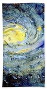 Sunflower Galaxy Beach Towel