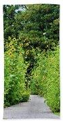 Sunflower Garden Beach Towel