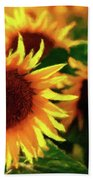 Sunflower Glory Beach Towel
