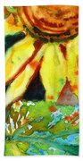 Sunflower Head 4 Beach Towel