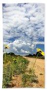 Sunflower Hitchhikers Beach Towel