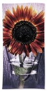 Sunflower In A Cup Beach Towel