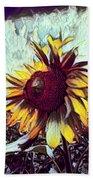Sunflower In Deep Tones Beach Towel