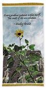 Sunflower Inspiration Beach Towel