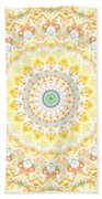 Sunflower Mandala- Abstract Art By Linda Woods Beach Towel