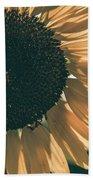 Sunflower Matte Beach Towel