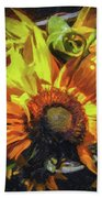 sunflower No. 1 Beach Towel