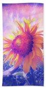 Sunflower Oil Painting Beach Sheet