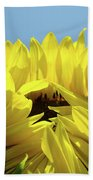 Sunflower Opening Sunny Summer Day 1 Giclee Art Prints Baslee Troutman Beach Towel