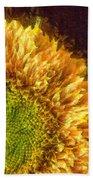 Sunflower Pencil Beach Towel