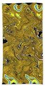 Sunflower Pie Abstract Beach Towel