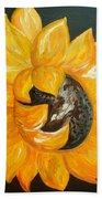 Sunflower Solo Beach Towel