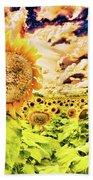 Sunflower Storm Beach Towel