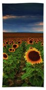 Sunflower Storms Beach Towel