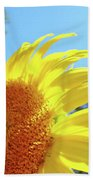 Sunflower Sunlit Art Print Canvas Sun Flowers Baslee Troutman Beach Towel