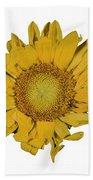 Sunflower T Beach Towel